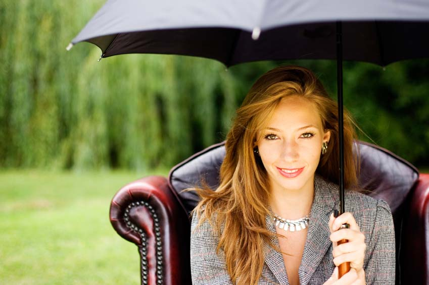 An umbrella is certainly a good accessory for your trip to Vienna.